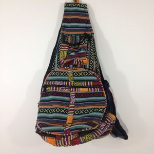 Vintage Inspired Tribal Print Handmade Backpack